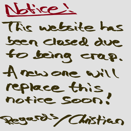 Website closed due to being crap. New one coming soon!